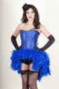 Blue Satin & Diamante Feather Dress